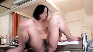Hardcore squirt hard by an oiled and tied up Japanese girl
