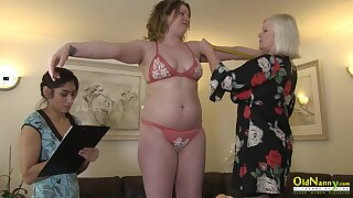 Busty british cut up enjoying lesbian threesome with pussy eating and deep fingering