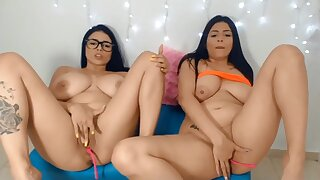 Two busty girls webcam masturbation
