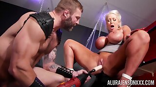 Rough BDSM pussy and anal for a big ass cougar heavens fire