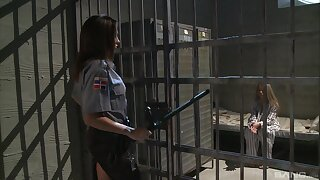 Prison guard feels naughty increased by penniless the meanwhile lesbo fun