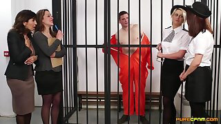 Amateur video of cock hungry sluts giving blowjobs to an inmate