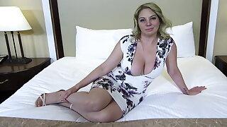 Big ass and bosom blonde MILF