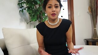 Well done Latina is giving say no to man set the Thames on fire blowjob on the couch