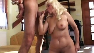 50 yr aged Mandy still has it fiddle-faddle as she fucks this horny young stud