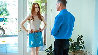 DADDY4K. Receipt a quarrel relative to say no to BF, magnificent redhead seduces his stepdad