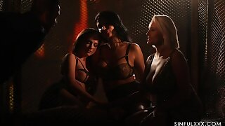 Spectacular sapphic orgy away from candle outlook starring Ania Kinski, Vinna Reed with an increment of Angel Wicky
