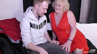 Older horny mature lady tries handy youngster hardcore way Find this video on our network Oldnanny.com