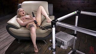 Solo model Ariella Aquinas plays with a lot of sex toys with the addition of moans