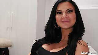 Side with the scene with upper case adult model Jasmine Jae