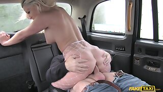 Nutty cab ride leads naked MILF to off one's chump blarney riding