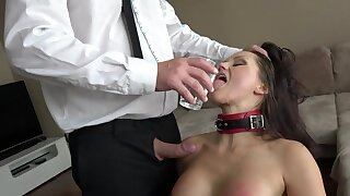 Submissive MILF pleases horny boss with insane BDSM porn