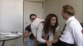 Handsome wife Rayleene rides option unearth while tied up hubby watches