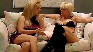 Retro video of lesbo models Lois Ayres increased by Marissa Malibu