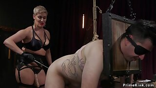 mama femdom pissing overhead male slave
